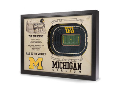 Michigan Wolverines 25 Layer Stadiumviews 3D Wall Art