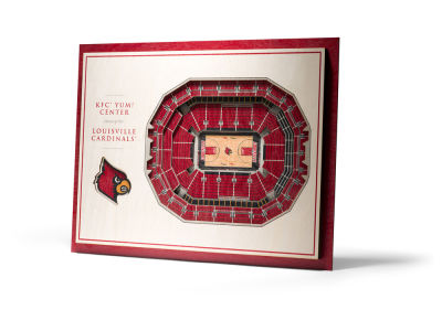 Louisville Cardinals 5 Layer Stadiumviews 3D Wall Art
