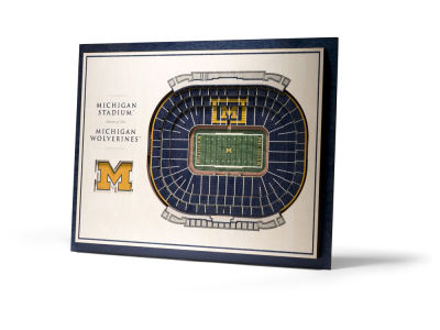 Michigan Wolverines 5 Layer Stadiumviews 3D Wall Art