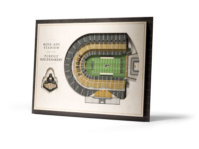 Purdue Boilermakers 5 Layer Stadiumviews 3D Wall Art