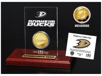 Anaheim Ducks Highland Mint Gold Coin Etched Acrylic