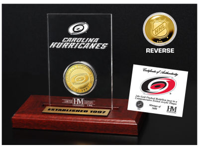 Carolina Hurricanes Highland Mint Gold Coin Etched Acrylic