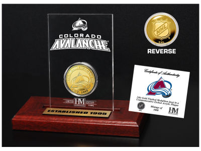 Colorado Avalanche Highland Mint Gold Coin Etched Acrylic