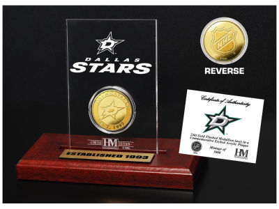 Dallas Stars Highland Mint Gold Coin Etched Acrylic