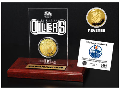 Edmonton Oilers Highland Mint Gold Coin Etched Acrylic