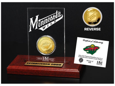 Minnesota Wild Highland Mint Gold Coin Etched Acrylic