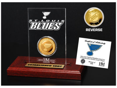 St. Louis Blues Highland Mint Gold Coin Etched Acrylic
