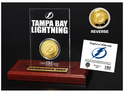 Tampa Bay Lightning Highland Mint Gold Coin Etched Acrylic