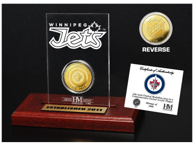 Winnipeg Jets Highland Mint Gold Coin Etched Acrylic