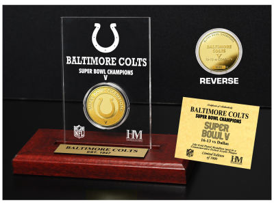 Baltimore Colts Highland Mint Super Bowl Champs Etched Acrylic Coin