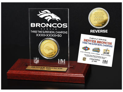 Denver Broncos Highland Mint Super Bowl Champs Etched Acrylic Coin