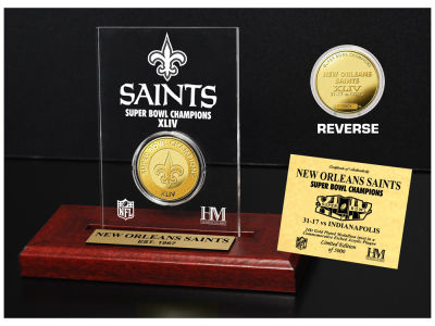 New Orleans Saints Highland Mint Super Bowl Champs Etched Acrylic Coin
