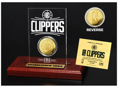 Los Angeles Clippers Highland Mint Gold Coin Etched Acrylic