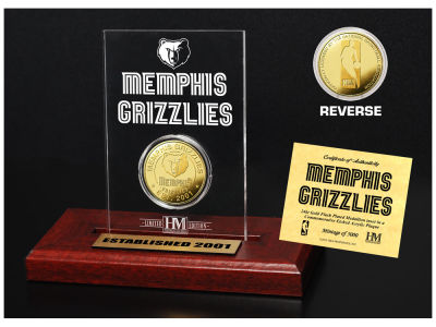 Memphis Grizzlies Highland Mint Gold Coin Etched Acrylic