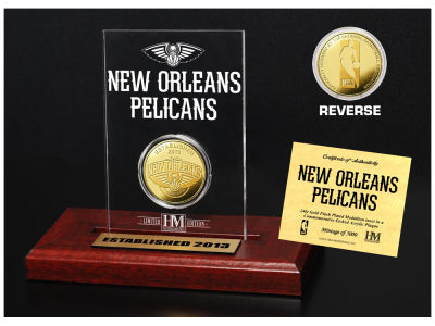 New Orleans Pelicans Highland Mint Gold Coin Etched Acrylic