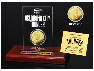 Oklahoma City Thunder Highland Mint Gold Coin Etched Acrylic
