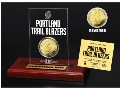 Portland Trail Blazers Highland Mint Gold Coin Etched Acrylic