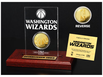 Washington Wizards Highland Mint Gold Coin Etched Acrylic