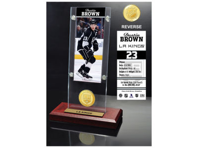 Los Angeles Kings Dustin Brown Highland Mint Ticket & Bronze Coin Acrylic Desk Top