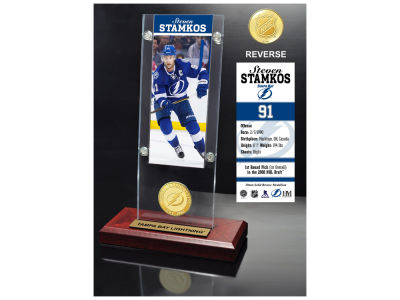 Tampa Bay Lightning Steven Stamkos Highland Mint Ticket & Bronze Coin Acrylic Desk Top