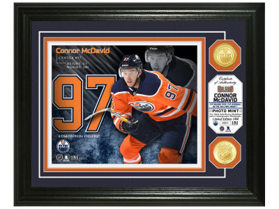 Edmonton Oilers Connor McDavid Highland Mint Bronze Coin Photo Mint