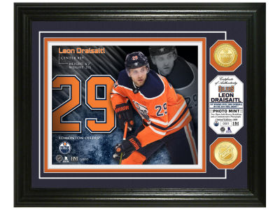 Edmonton Oilers Leon Draisaitl Highland Mint Bronze Coin Photo Mint