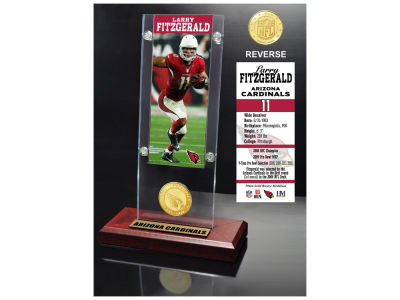 Arizona Cardinals Larry Fitzgerald Highland Mint Ticket & Bronze Coin Acrylic Desk Top