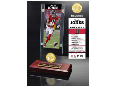 Atlanta Falcons Julio Jones Highland Mint Ticket & Bronze Coin Acrylic Desk Top