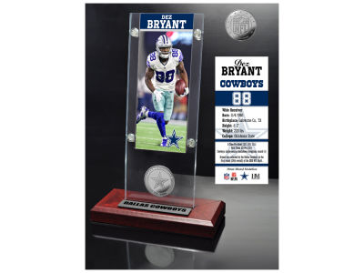 Dallas Cowboys Dez Bryant Highland Mint Ticket & Bronze Coin Acrylic Desk Top