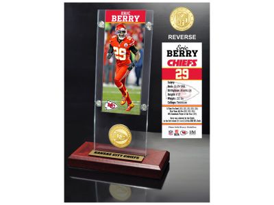 Kansas City Chiefs Eric Berry Highland Mint Ticket & Bronze Coin Acrylic Desk Top