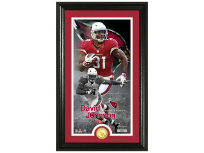 Arizona Cardinals David Johnson Highland Mint Supreme Bronze Coin Photo Mint V