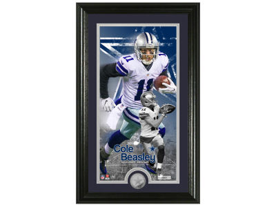 Dallas Cowboys Cole Beasley Highland Mint Supreme Bronze Coin Photo Mint V