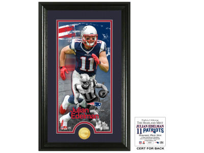 New England Patriots Julian Edelman Highland Mint Supreme Bronze Coin Photo Mint V