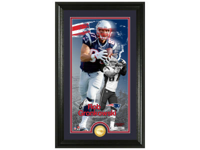 New England Patriots Rob Gronkowski Highland Mint Supreme Bronze Coin Photo Mint V