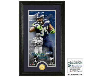 Seattle Seahawks Thomas Rawls Highland Mint Supreme Bronze Coin Photo Mint V