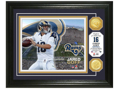 Los Angeles Rams Jared Goff Highland Mint Bronze Coin Photo Mint