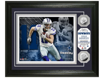 Dallas Cowboys Cole Beasley Highland Mint Silver Coin Photo Mint