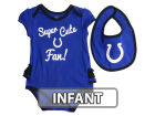 Indianapolis Colts Outerstuff NFL Infant Girls Trifecta Bib Set Infant Apparel