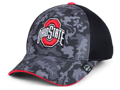 Ohio State Buckeyes Top of the World NCAA Camo Front Flex Cap