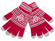 Forever Collectibles Acrylic Stripe Knit Glove Apparel & Accessories