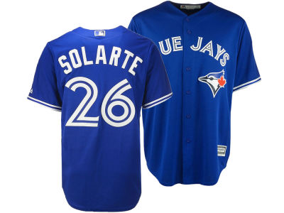 Toronto Blue Jays Yangervis Solarte Majestic MLB Men's Player Replica Cool Base Jersey
