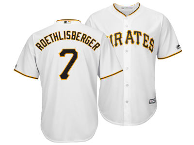 Pittsburgh Pirates Ben Roethlisberger Majestic MLB Men's NFLPA Replica Cool Base Jersey