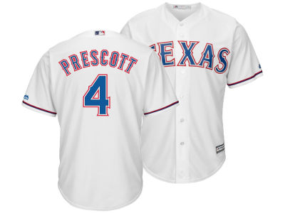 Texas Rangers Dak Prescott Majestic MLB Men's NFLPA Replica Cool Base Jersey