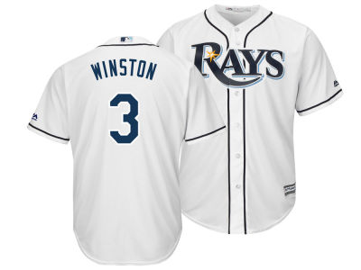 Tampa Bay Rays Jameis Winston Majestic MLB Men's NFLPA Replica Cool Base Jersey