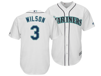 Seattle Mariners Russell Wilson Majestic MLB Men's NFLPA Replica Cool Base Jersey