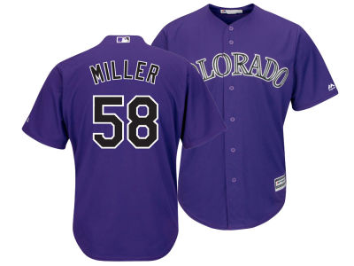 Colorado Rockies Von Miller Majestic MLB Men's NFLPA Replica Cool Base Jersey