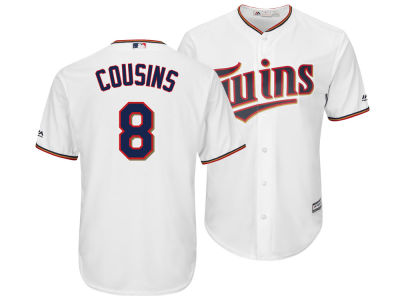 Minnesota Twins Kirk Cousins Majestic MLB Men's NFLPA Replica Cool Base Jersey