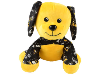 "Pittsburgh Penguins Forever Collectibles 7.5"" Printed Seated Dog Toy"