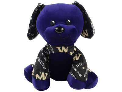 "Washington Huskies Forever Collectibles 7.5"" Printed Seated Dog Toy"