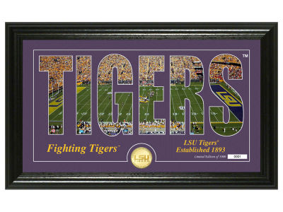 LSU Tigers Highland Mint Silhouette Bronze Coin Photo Mint